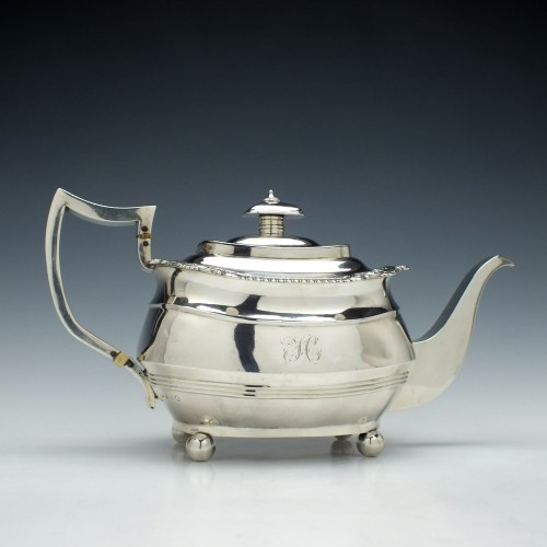 George III Silver Teapot London c1814