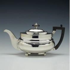 George III Silver Teapot London c1813