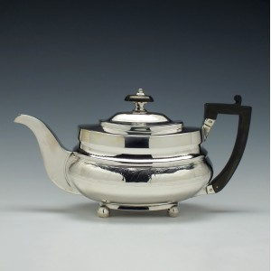 George III Silver Teapot London c1813