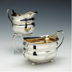 Silver Sucrier and Cream Jug London 1808
