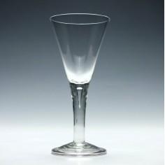 Georgian Style Plain Stem Wine Glass