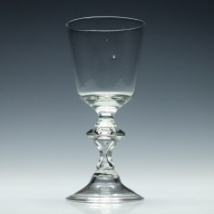 German Bucket Bowl Baluster Glass c1750