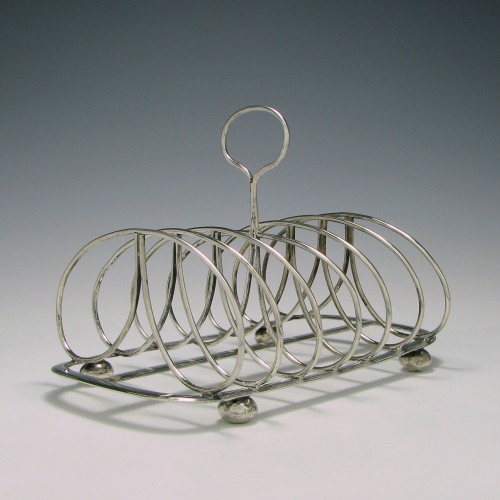 Scottish Silver Six Division Toast Rack Edinburgh 1819