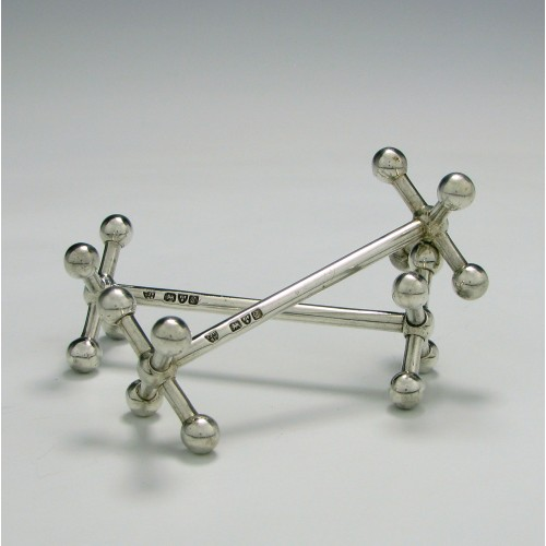 Pair of Chester Silver Knife Rests 1904