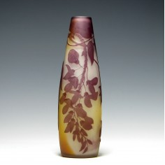 Galle Three Colour Cameo Wisteria Vase c1900