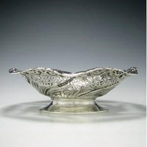 Silver Pedestal Table Basket 1893