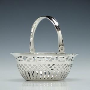 Victorian Silver Sugar Basket 1900