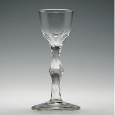 18th Century Facet Cut Wine Glass c1780