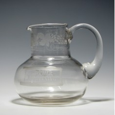 Mother Of Kilwinning Masonic Glass Water Jug c1870