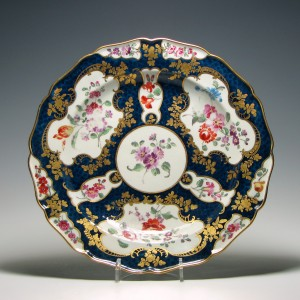 Giles Decorated Worcester Porcelain Dessert Plate c1770