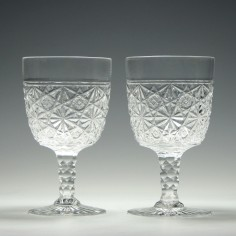 Pair of 20th Century Crystal Goblets