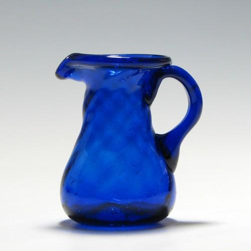 Victorian Bristol Blue Cream Jug c1860