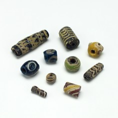 Ten Ancient Glass Beads 1st to 10th century