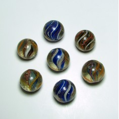 Seven Antique German Marbles