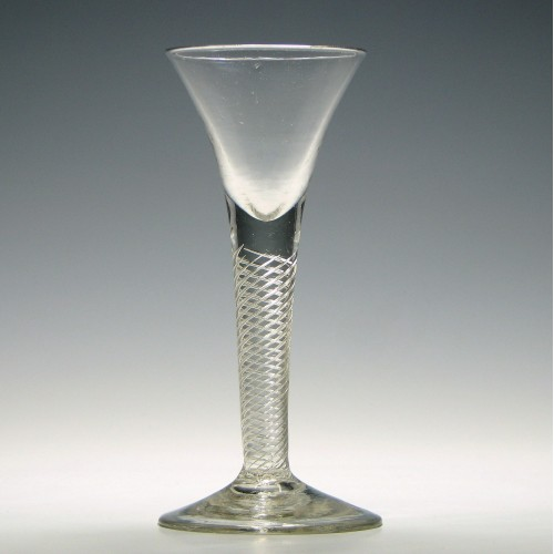 18th Century Multi Spiral Air Twist Wine Glass c1750
