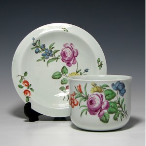 Rare Worcester Finger Bowl & Stand c1760