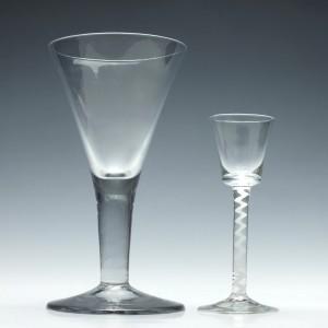 Large 18th Century Plain Stem Wine Goblet c1750