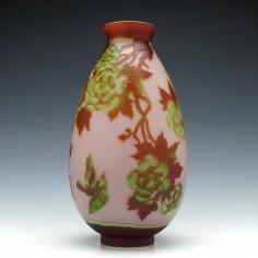 Large Muller Freres Peony Vase c1900