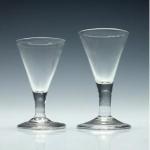 Two 18th Century George II Gin Glasses