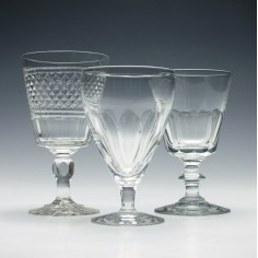 Collection of Three Cut glass Rummers c1890