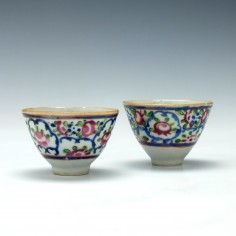 Pair of Chinese Qianlong Teabowls c1750