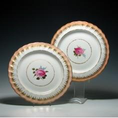 Pair Derby Porcelain Desert Plates c1795- Was £85