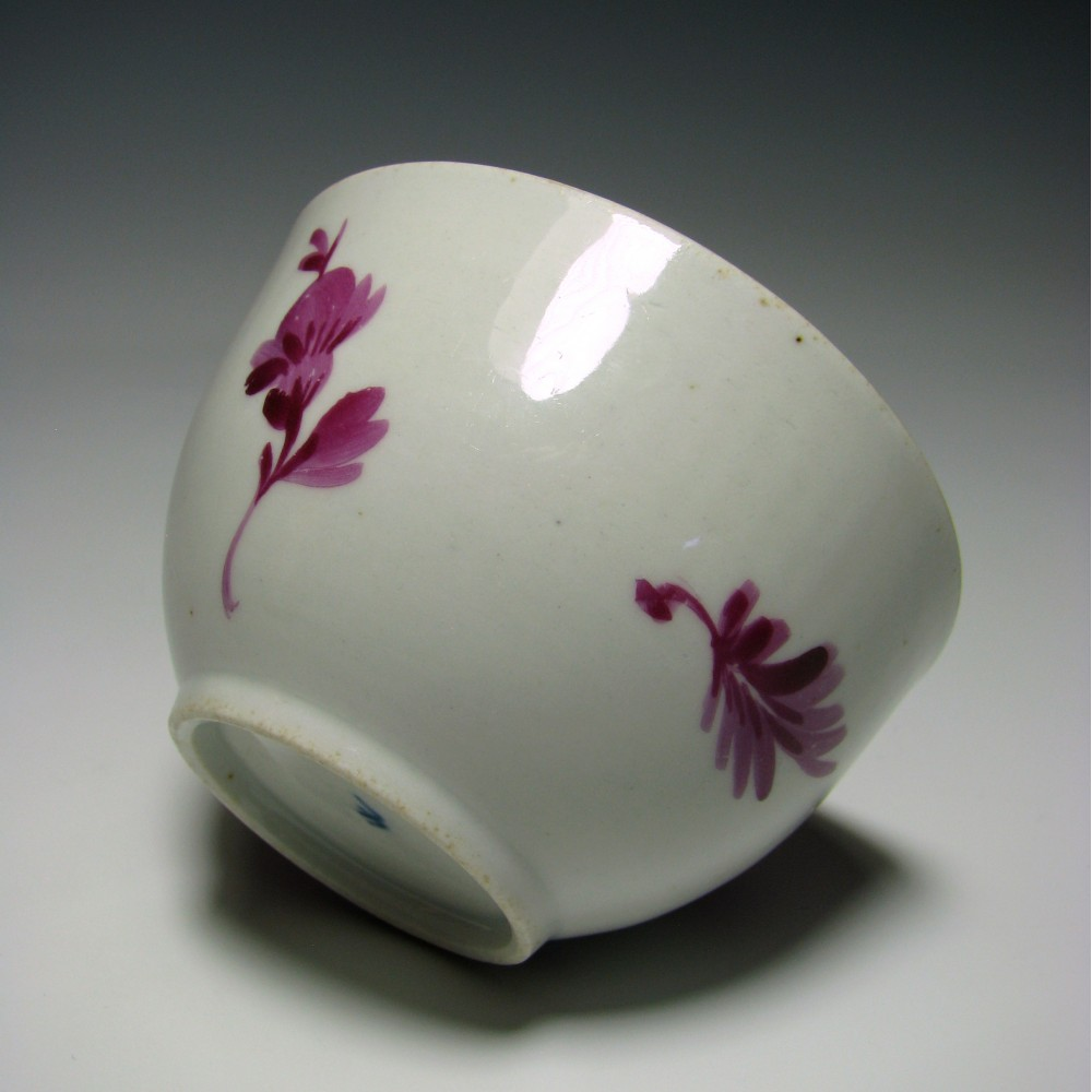 A Wallendorf porcelain tea bowl and saucer