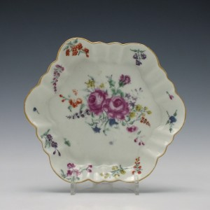 First Period Worcester Teapot Stand c1770