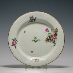First period Worcester Porcelain Plate c1770