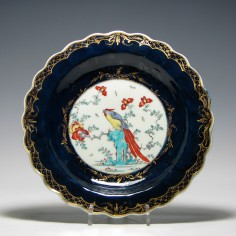 First Period Worcester Sir Joshua Reynolds Pattern Dessert Plate c1770