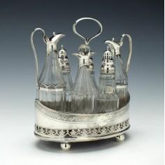 Silver Cruet Set William Stroud London 1792