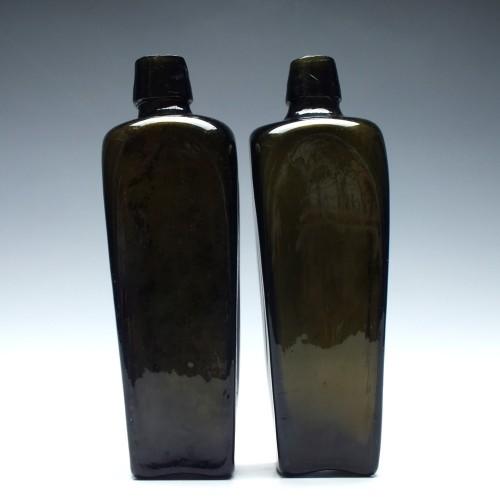 Pair of Dutch Gin Bottles c1800