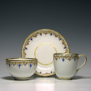 Derby Porcelain Trio c1790