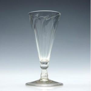 "Georgian ""Somerset"" Wrythen Ale Glass c1760"