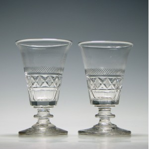 Fine Pair Georgian Cut Glasses c1820