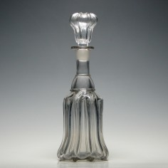 Victorian Pillar Moulded Glass Bell Decanter c1860