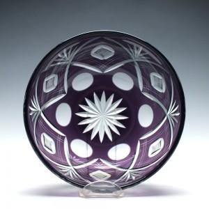 Finely Cut Amethyst Glass Bowl