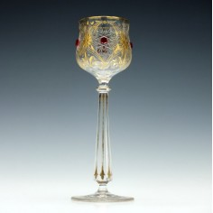 Gilded Hock Glass  with Jewells c1900