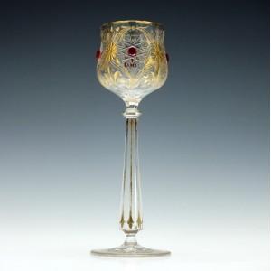 Gilded Hock Glass  with Jewellsc1900