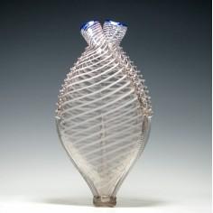 19th Century Nailsea Glass Gimmel Flask c1840
