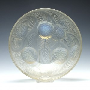 Rene Lalique Opalescent Dahlias Glass Bowl 1921