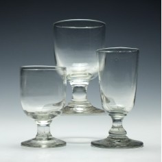 A Group of Three Tavern Glasses