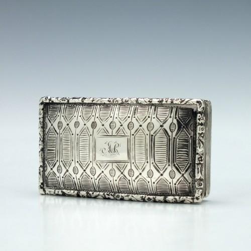 George IV Silver Snuff Box Birmingham 1828