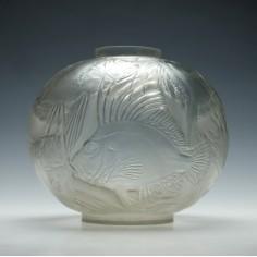 Rene Lalique Poissons Vase Designed 1921 Marcilhac no. 925