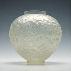 Rene Lalique 'Boule de Gui' Vase 1920