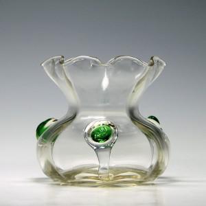 Stuart Art Nouveau Trailed Glass Vase c1900