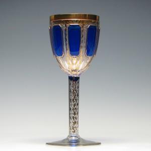 Egermann Gilded Wine Glass c1840
