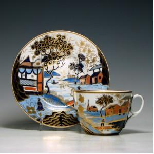 New Hall Tea Cup & Saucer c1820