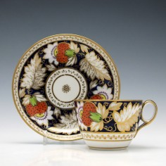 New Hall Porcelain Tea Cup & Saucer c1820