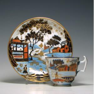 New Hall Coffee Cup & Saucer c1820